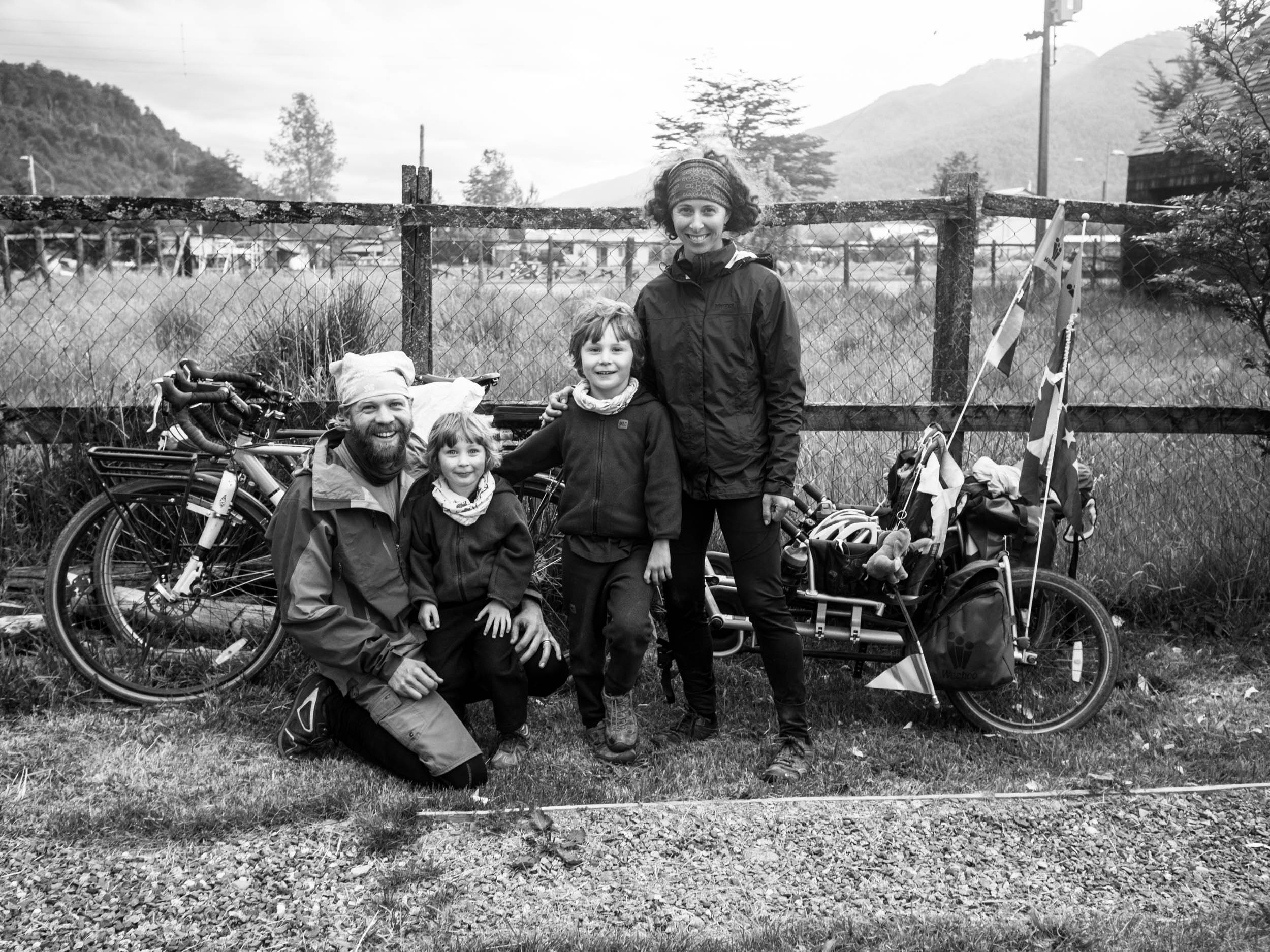 Family on the road